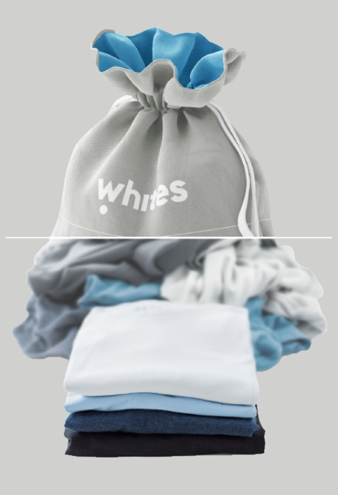 Wash fold bag - laundry bag whites