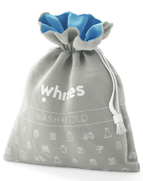 Wash & Fold Bag - Whites Laundry